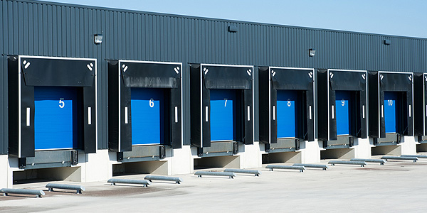 6 industrial doors in blue colour