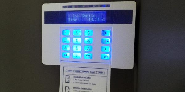 keypad intruder alarm