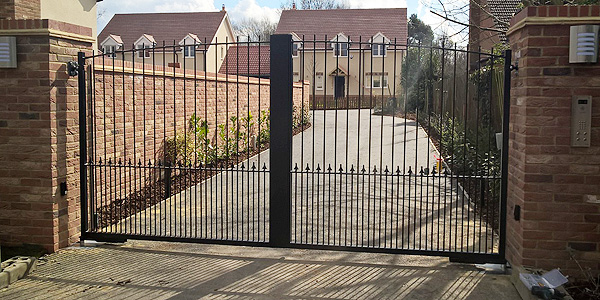 black iron automatic gate