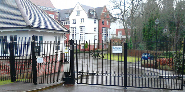 black iron residential automatic gate