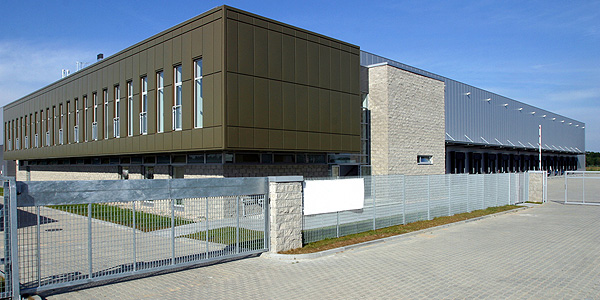 commercial automatic gates in grey colour