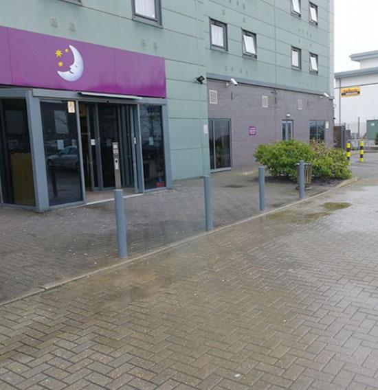 Parking Bollards Installed for Premier Inn, Borehamwood